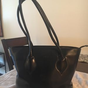 Black Leather Furla Bag